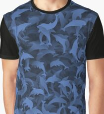 Dolphins camouflage Graphic T-Shirt