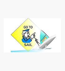 GO TO SAIL-Monopoly Cop-420-Shredding-01 Photographic Print