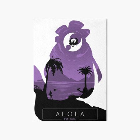Alola Region- Moon Version. Art Board Print
