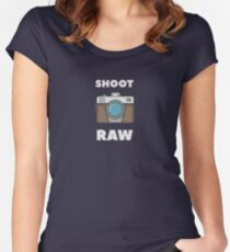 Funny Photography Shoot Raw Joke Women's Fitted Scoop T-Shirt