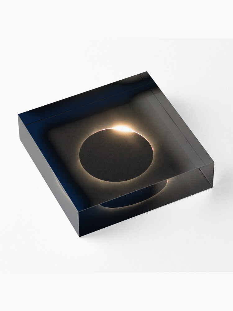 Alternate view of 2017 Solar Eclipse - Diamond Ring Acrylic Block