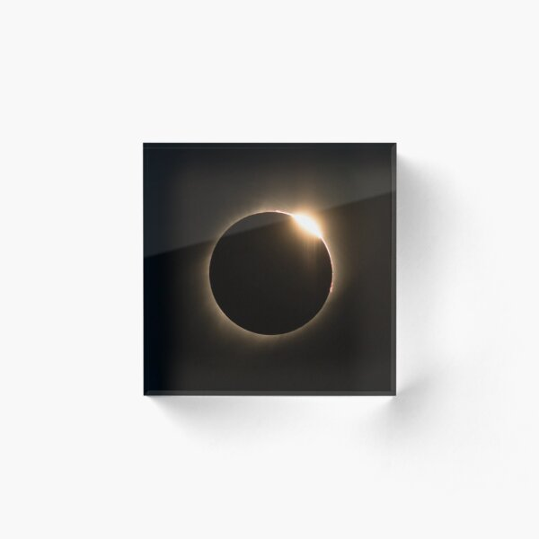 2017 Solar Eclipse - Diamond Ring Acrylic Block
