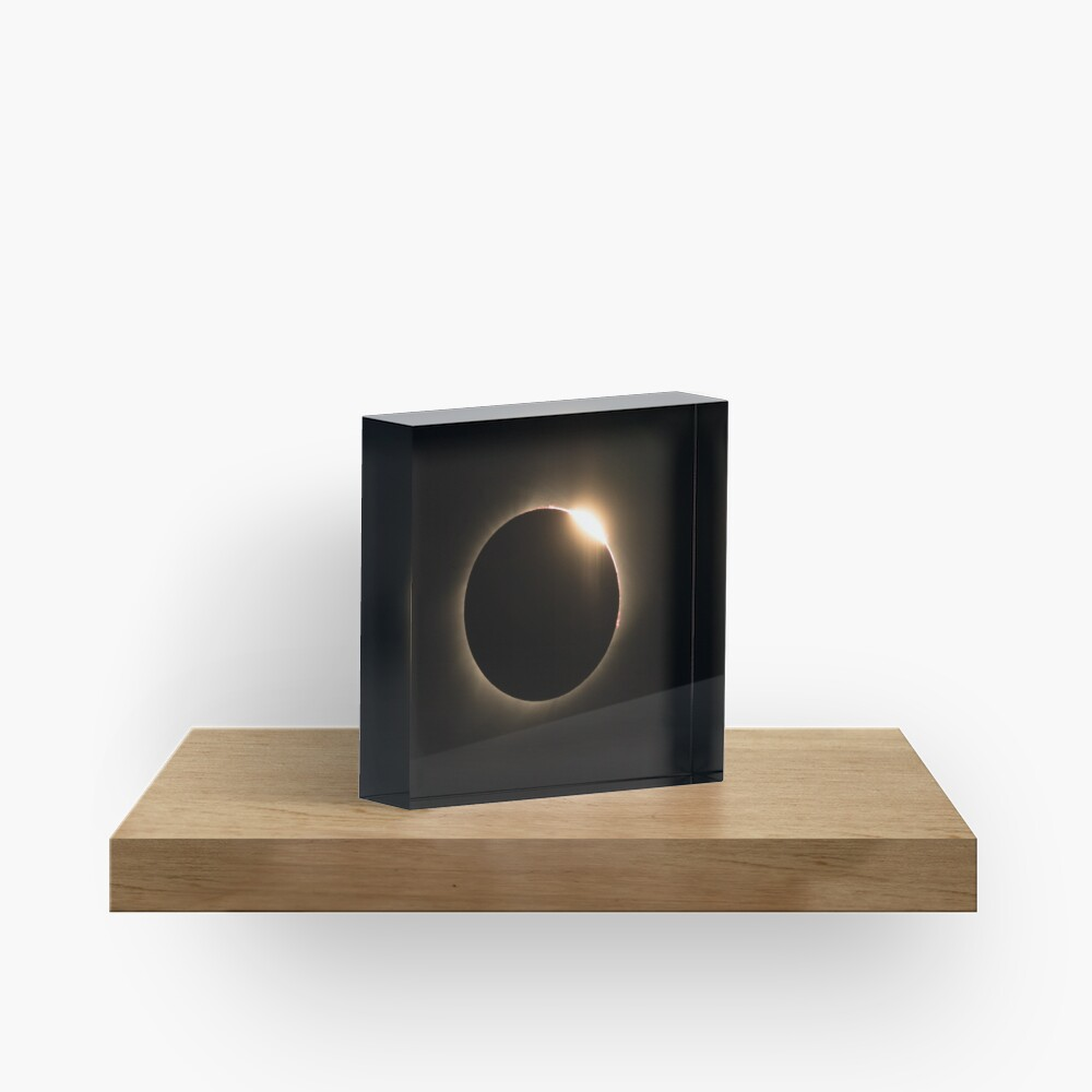 2017 Solar Eclipse - Diamond Ring Acrylic Block