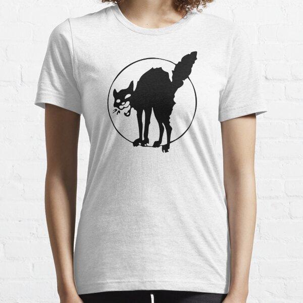 Gato negro anarquista Camiseta esencial