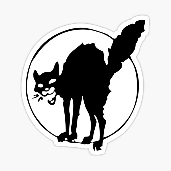 Chat noir anarchiste Sticker