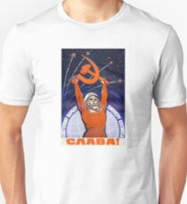 Kommunistisches CCCP Plakat Slim Fit T-Shirt
