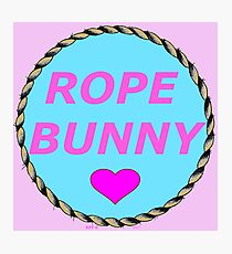 ROPE BUNNY - Art By Kev G Photographic Print