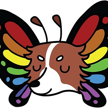 Rainbow Butterfly Papillon by BountifulBean