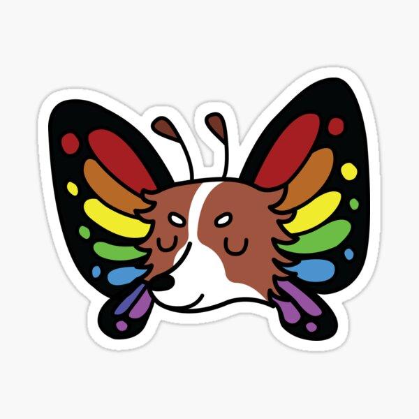 Rainbow Butterfly Papillon Sticker