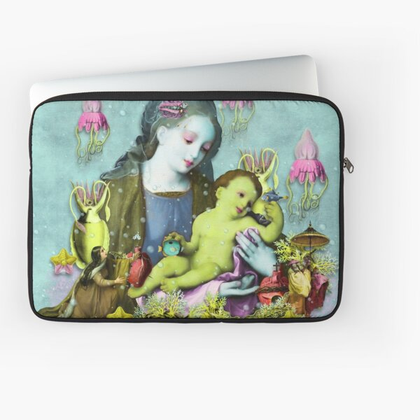Mother and Child Underwater Laptop Sleeve