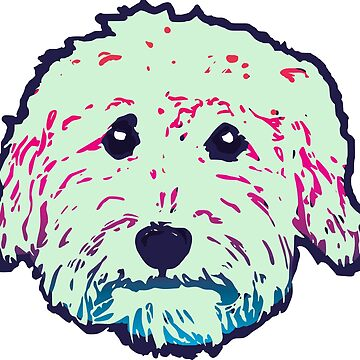 Goldendoodle! Labradoodle! Adorable doodle teddy bear dog - in Navy, mint and multi colors by smooshfaceutd