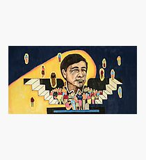 Cesar Chavez at School  Photographic Print