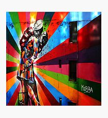 The New York Colourfull Kiss Photographic Print