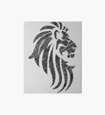 Lion Tribal Tattoo Style Distressed Design  Art Board