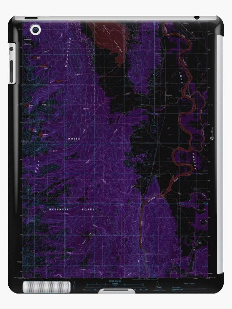 USGS TOPO Map Idaho ID Alpha 235063 1985 24000 Inverted by wetdryvac