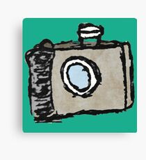 Old Timey Camera Minimalist Ink Drawing Canvas Print