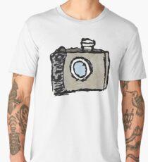 Old Timey Camera Minimalist Ink Drawing Men's Premium T-Shirt