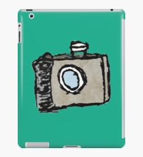 Old Timey Camera Minimalist Ink Drawing iPad Case/Skin