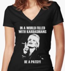 be a patsy Women's Fitted V-Neck T-Shirt