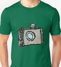 Old Timey Camera Minimalist Ink Drawing T-Shirt