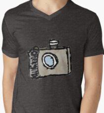 Old Timey Camera Minimalist Ink Drawing T-Shirt