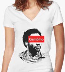 gambino Women's Fitted V-Neck T-Shirt