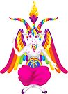 1997 Neon Rainbow Baphomet NOW WITH GOAT/UNICORN NIPPLES by creepygirlclub