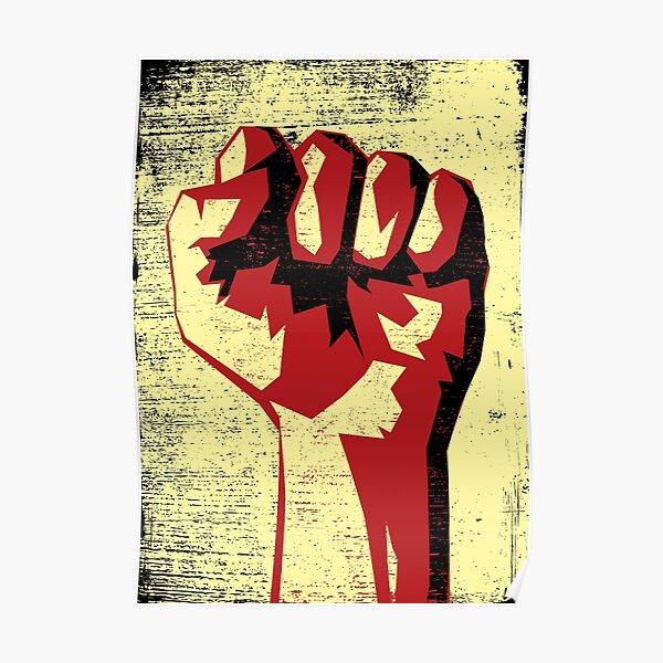 Revolution!!! Raised Fist!  Poster