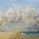 A rainbow over Sandbanks by Joe Trodden