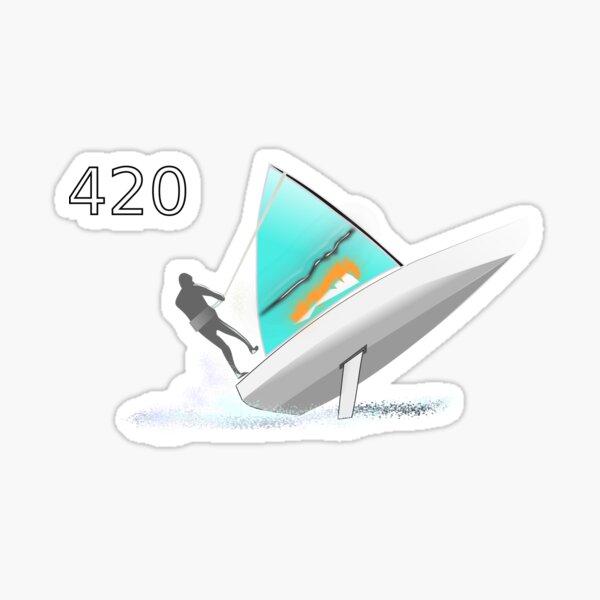 420-sailboat-01 Sticker