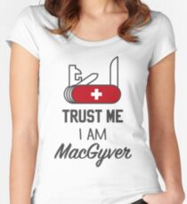 MacGyver Fitted Scoop T-Shirt