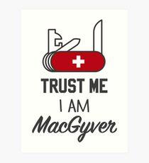 MacGyver Art Print