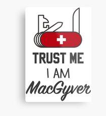 MacGyver Metal Print
