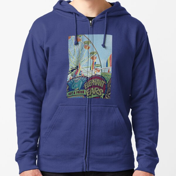Day at the fair  Zipped Hoodie