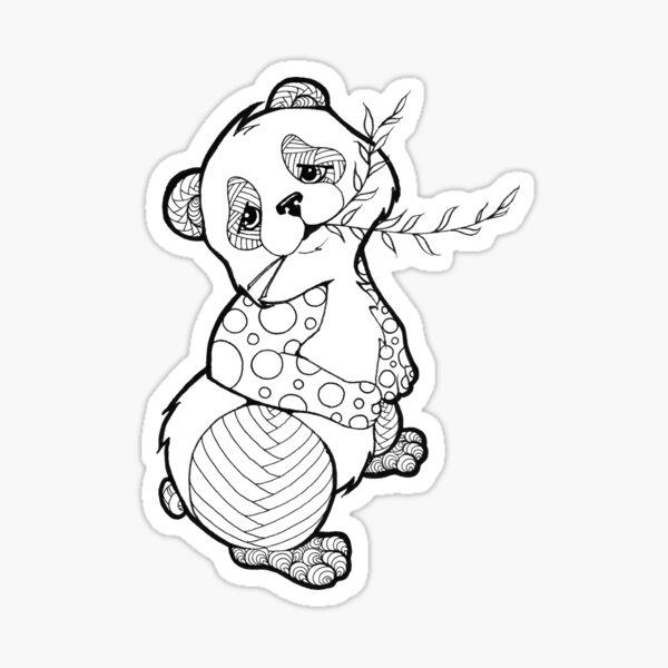 Color Your Panda Sticker