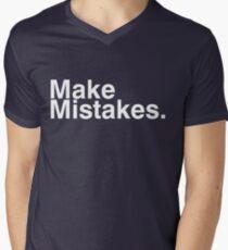 Make Mistakes. Men's V-Neck T-Shirt