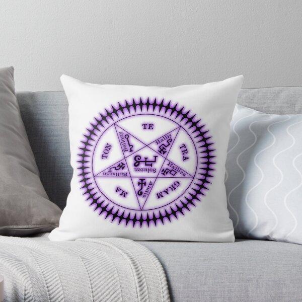 Sebastian Michaelis Sigil Dark (white bg) Throw Pillow