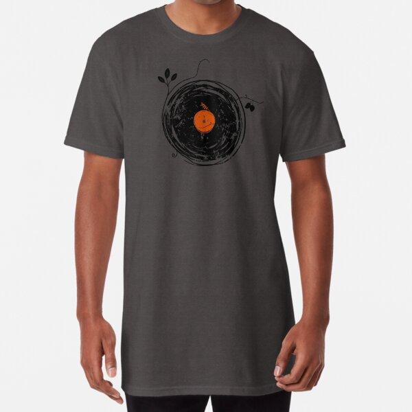 Encantadores discos de vinilo vintage Camiseta larga