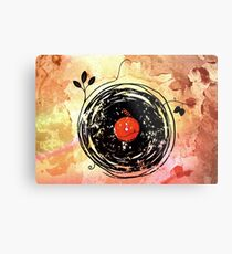 Enchanting Vinyl Records Vintage Metal Print