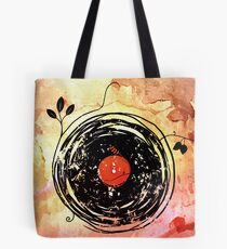 Enchanting Vinyl Records Vintage Tote Bag