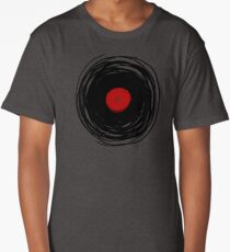 Spinning within with a vinyl record... Long T-Shirt