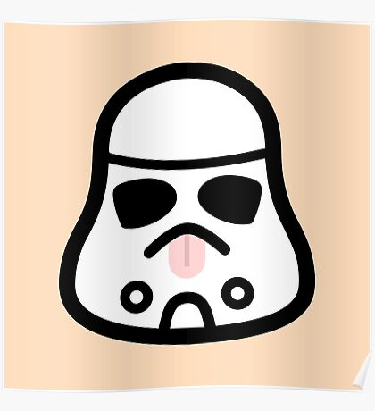 Minimal Stormtrooper (Tongue Out) Poster