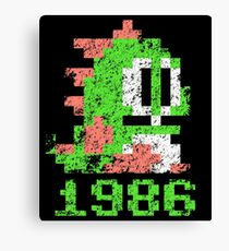 Bubble Bobble 1986 Canvas Print