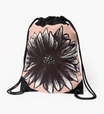 Ink Flower  Drawstring Bag