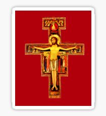 San Damiano Crucifix St Francis of Assisi  Sticker
