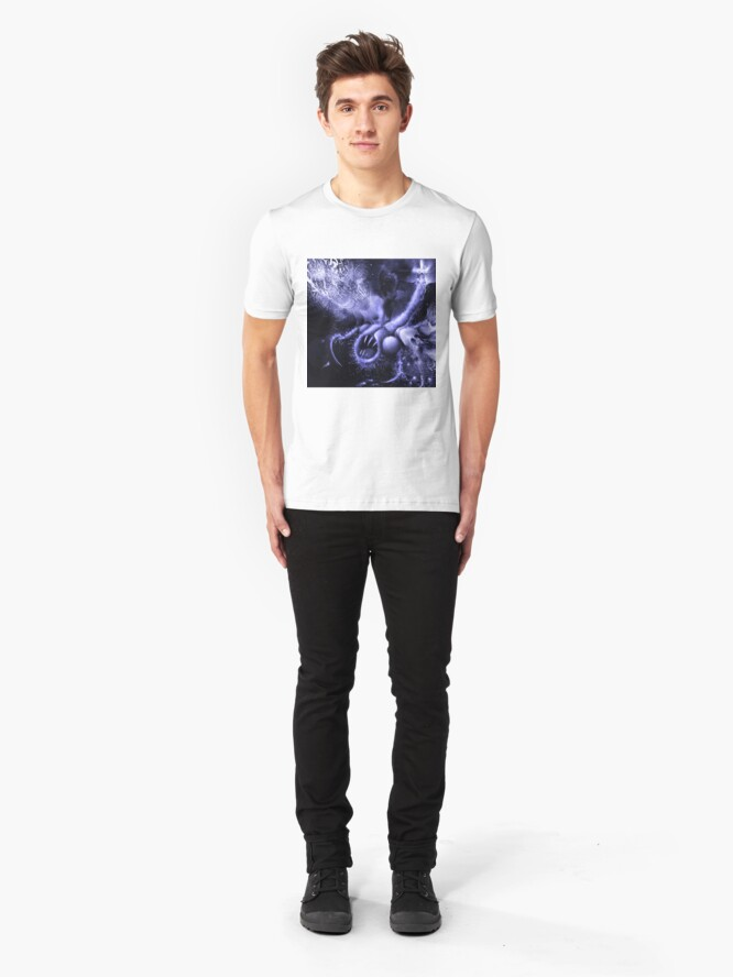 Alternate view of TIME AERIALS Squamafly Blue Slim Fit T-Shirt