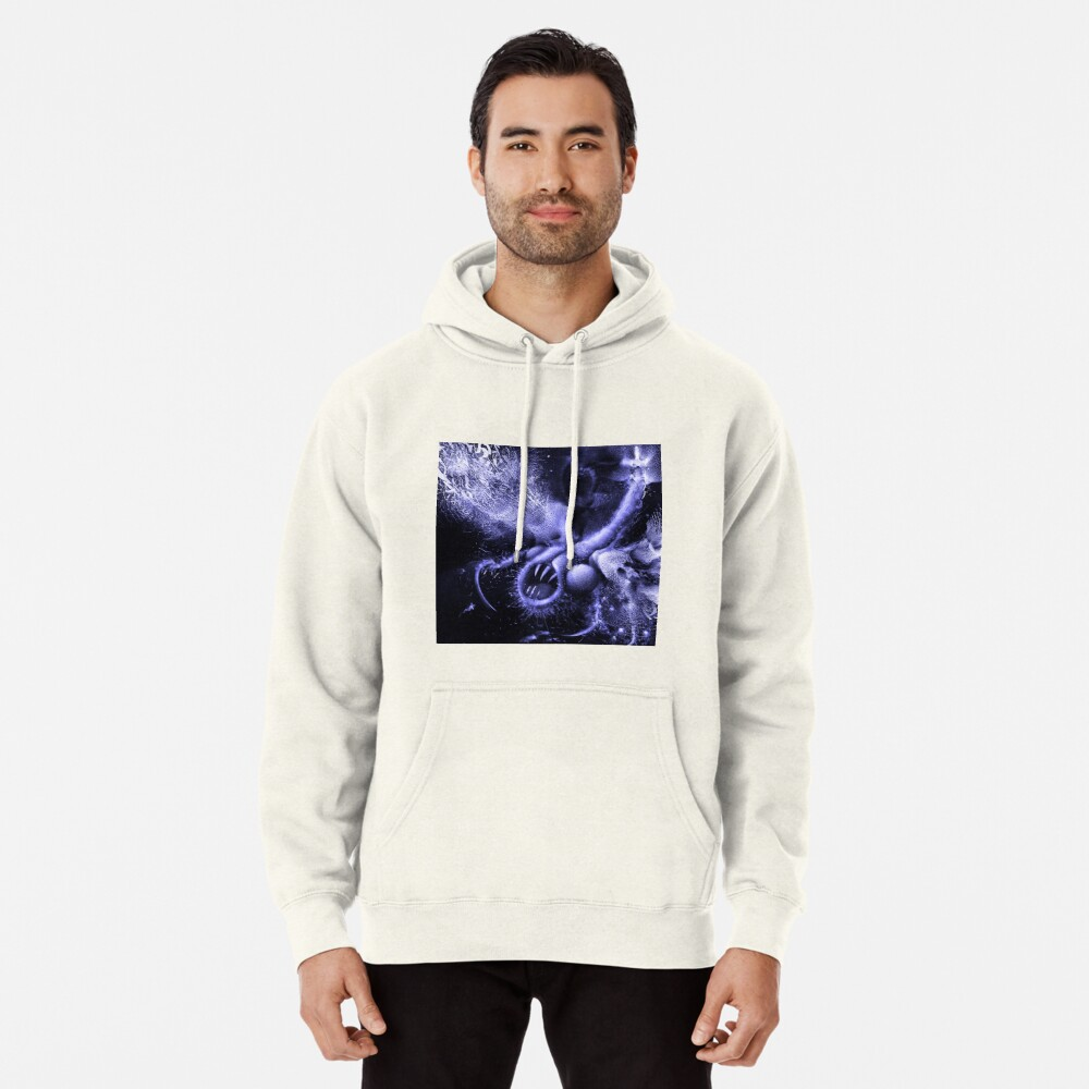 TIME AERIALS Squamafly Blue Pullover Hoodie