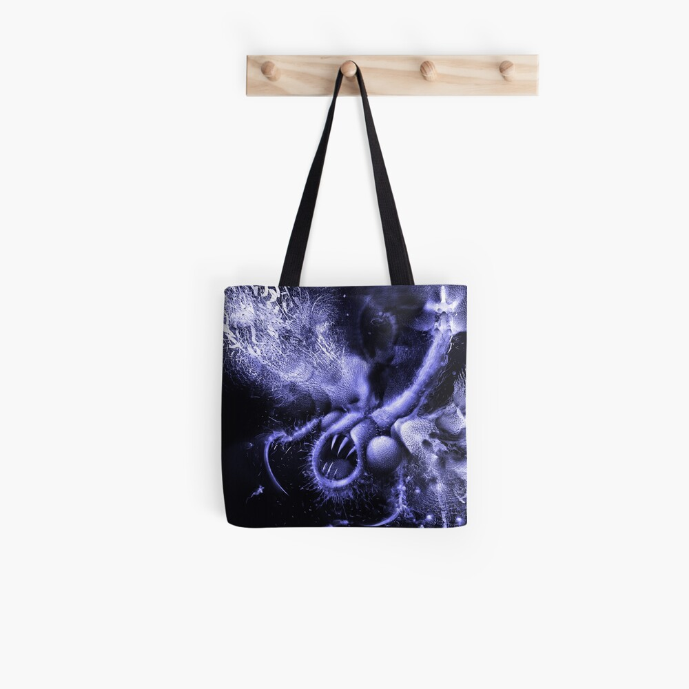 TIME AERIALS Squamafly Blue Tote Bag