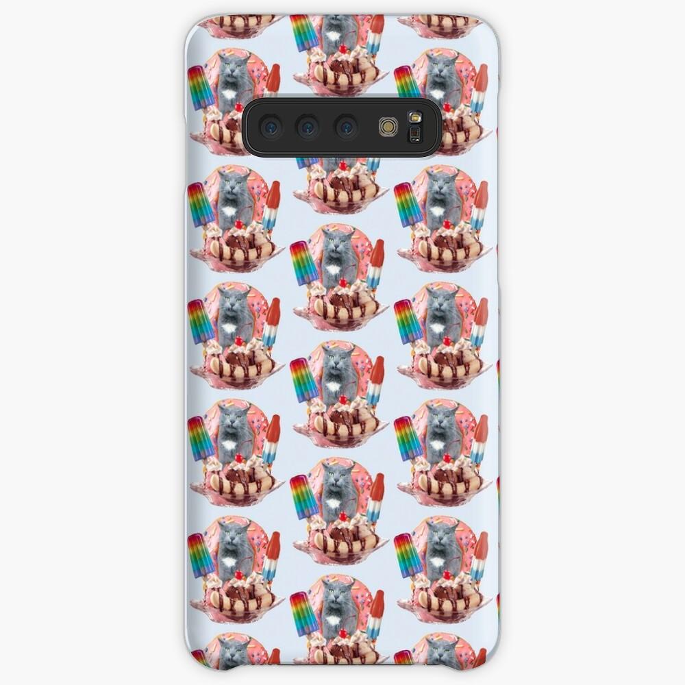 Kitty Cat Donut Banana Popsicle Split  Case & Skin for Samsung Galaxy