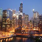 Chicago at Dusk by rbusscher
